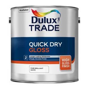 Dulux Trade Pure Brilliant White Quick Dry Gloss - 2.5L
