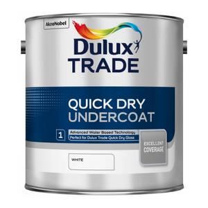 Dulux Trade Undercoat White Quick Dry Paint - 2.5L
