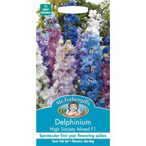 Mr. Fothergill's Delphinium High Society Mixed F1 Seeds