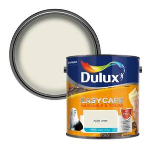 Dulux Easycare Washable & Tough Apple White Matt Paint - 2.5L