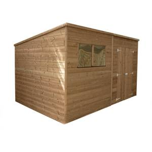 Mercia 12x8ft Pressure Treated Pent Wooden Shed