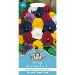 Mr. Fothergill's Pansy Mr Fs Early Mixed F1 Seeds