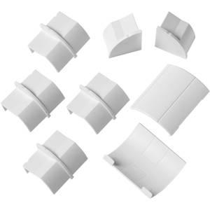 D-Line Quadrant Decorative Trunking Clip Over 8 Piece Accessory Multipack 22mm x 22mm White