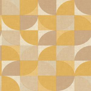 Grandeco Geo Crescent Yellow Wallpaper
