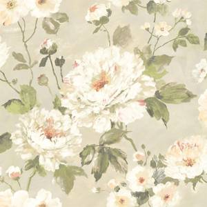 Grandeco Painterly Floral Neutral Wallpaper