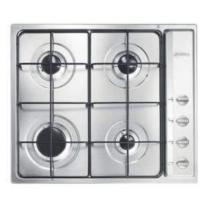 Smeg S64S 60cm Cucina 4 Burner Gas Hob - Stainless Steel