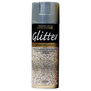 Rust-Oleum Silver - Glitter Spray Paint - 400ml