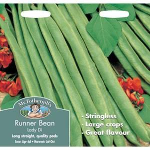 Mr. Fothergill's Runner Bean Lady Di Vegetable Seeds