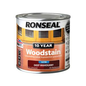 Ronseal 10 Year Woodstain Satin Deep Mahogany - 250ml