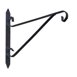 Hanging Basket Bracket - Black - 230x250mm
