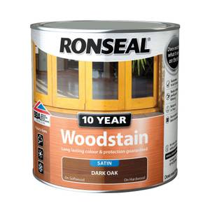 Ronseal 10 Year Woodstain Satin Dark Oak -  750ml