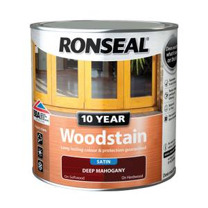 Ronseal 10 Year Woodstain Satin Deep Mahogany - 2.5L