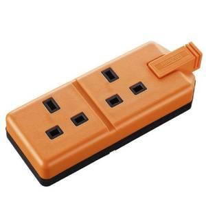 Masterplug 2 Socket Heavy Duty Rewirable Trailing Socket Orange
