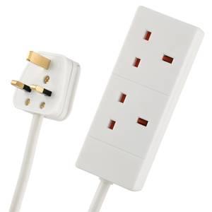 Arlec 2 Socket Extension Lead 5m White