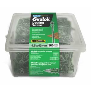 Ovalok Decking Screws 4.5 x 63mm - 500 Pack