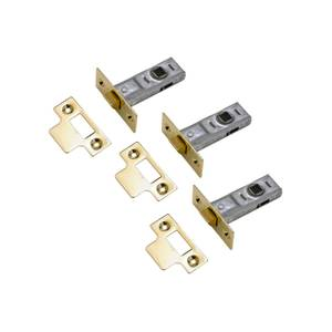Yale Tubular Latch 64mm / 2.5 inches - Brass - 3 Pack