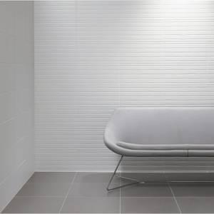 Conran Flow White Wall Tile - 498 x 248mm