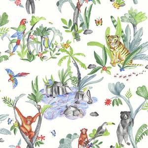 Arthouse Jungle Mania Kids Smooth Multi Coloured Wallpaper
