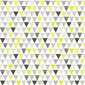 Arthouse Jester Bright Geometric Smooth Black and Lime Wallpaper