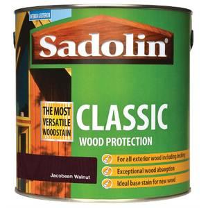 Sadolin Classic Woodstain - Jacobean Walnut - 2.5L
