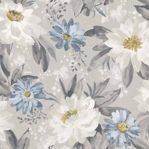 Arthouse Painted Dahlia Floral Smooth Grey Multi Coloured Wallpaper