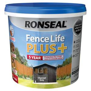 Ronseal Fence Life Plus Charcoal Grey - 5L