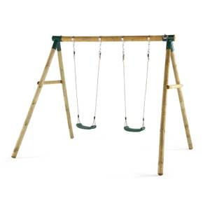 Plum Marmoset Wooden Swing Set