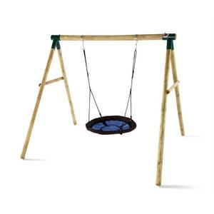 Plum Spider Monkey Wooden Swing Set