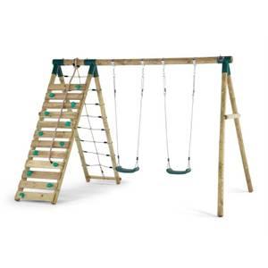 Plum Uakari Wooden Swing Set