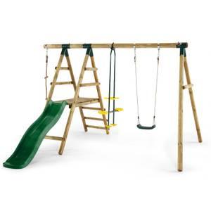 Plum Meerkat Wooden Swing Set
