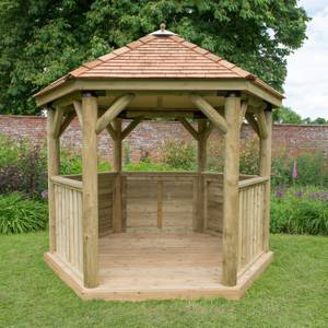 Forest (Installation Included) Cedar Roof Gazebo - 3m
