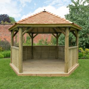 Forest (Installation Included) Cedar Roof Gazebo - 4m