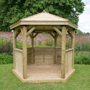 Forest (Installation Included) Timber Roof Gazebo - 3m