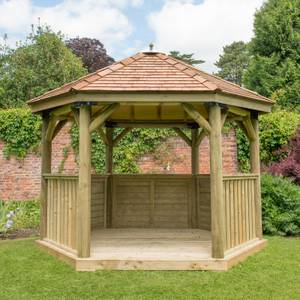 Forest (Installation Included) Cedar Roof Gazebo - 3.6m