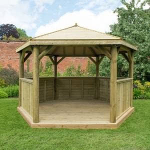 Forest (Installation Included) Timber Roof Gazebo - 4m