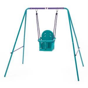 Plum 2 in 1 Swing Set - Purple/Teal