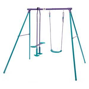 Plum Helios Swing & Glider Set - Purple/Teal
