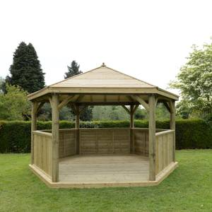 Forest (Installation Included) Timber Roof Gazebo - 4.7m