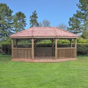 Forest (Installation Included) Cedar Roof Gazebo - 6m