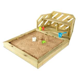 Plum Wooden Sand Pit & Bench