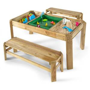 Plum Wooden Activity Table & Benches