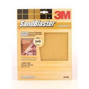3M P240 SandBlaster Sandpaper - Very Fine - 3 Pack