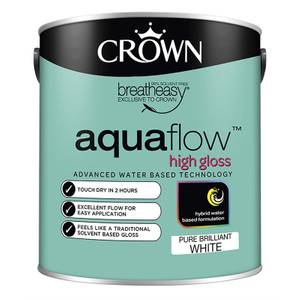 Crown Pure Brilliant White Aquaflow Gloss - 2.5L