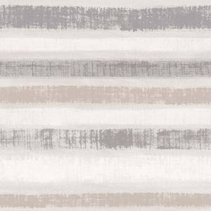Arthouse Painted Stripe Linen Effect Embossed Metallic Chalk Grey Wallpaper