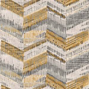 Arthouse Chevron Weave Geometric Embossed Glitter Ochre Wallpaper