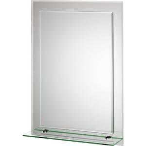 Croydex Devoke Rectangular Double Layer Bathroom Mirror with Shelf