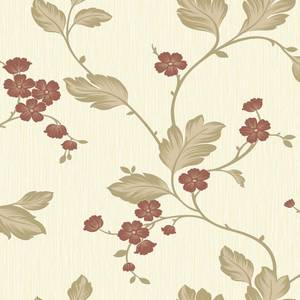 Grandeco Bella Motif Red Paste the Paper Wallpaper