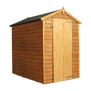 Mercia 6x4ft Overlap Apex Windowless Shed