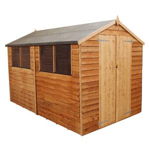 Mercia (Installation Included) 10x8ft Overlap Apex Shed