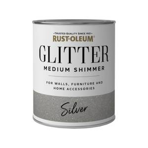 Rust-Oleum Medium Shimmer Silver Glitter - 750ml